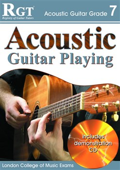 RGT Acoustic Guitar Playing grade 7 LCM book & CD